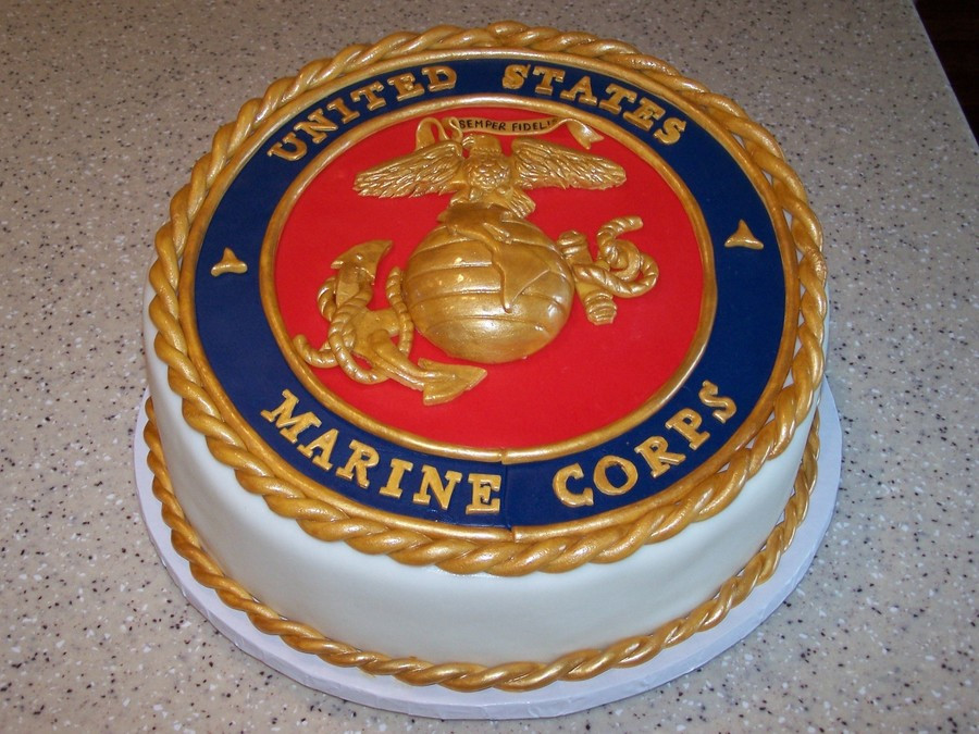 Best ideas about Marine Corp Birthday Cake . Save or Pin Marine Corps Cake CakeCentral Now.