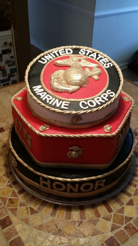 Best ideas about Marine Corp Birthday Cake . Save or Pin 2014 Marine Corps Ball cake cake by Bella Noche Cakes Now.