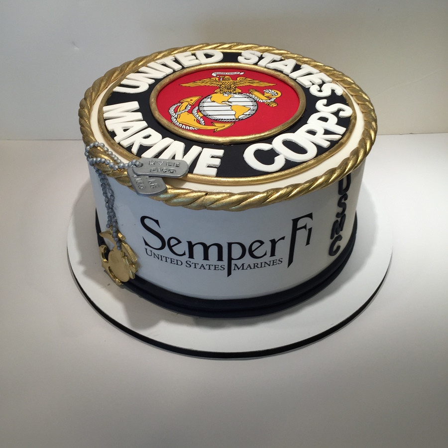 Best ideas about Marine Corp Birthday Cake . Save or Pin United States Marine Corp Cake CakeCentral Now.