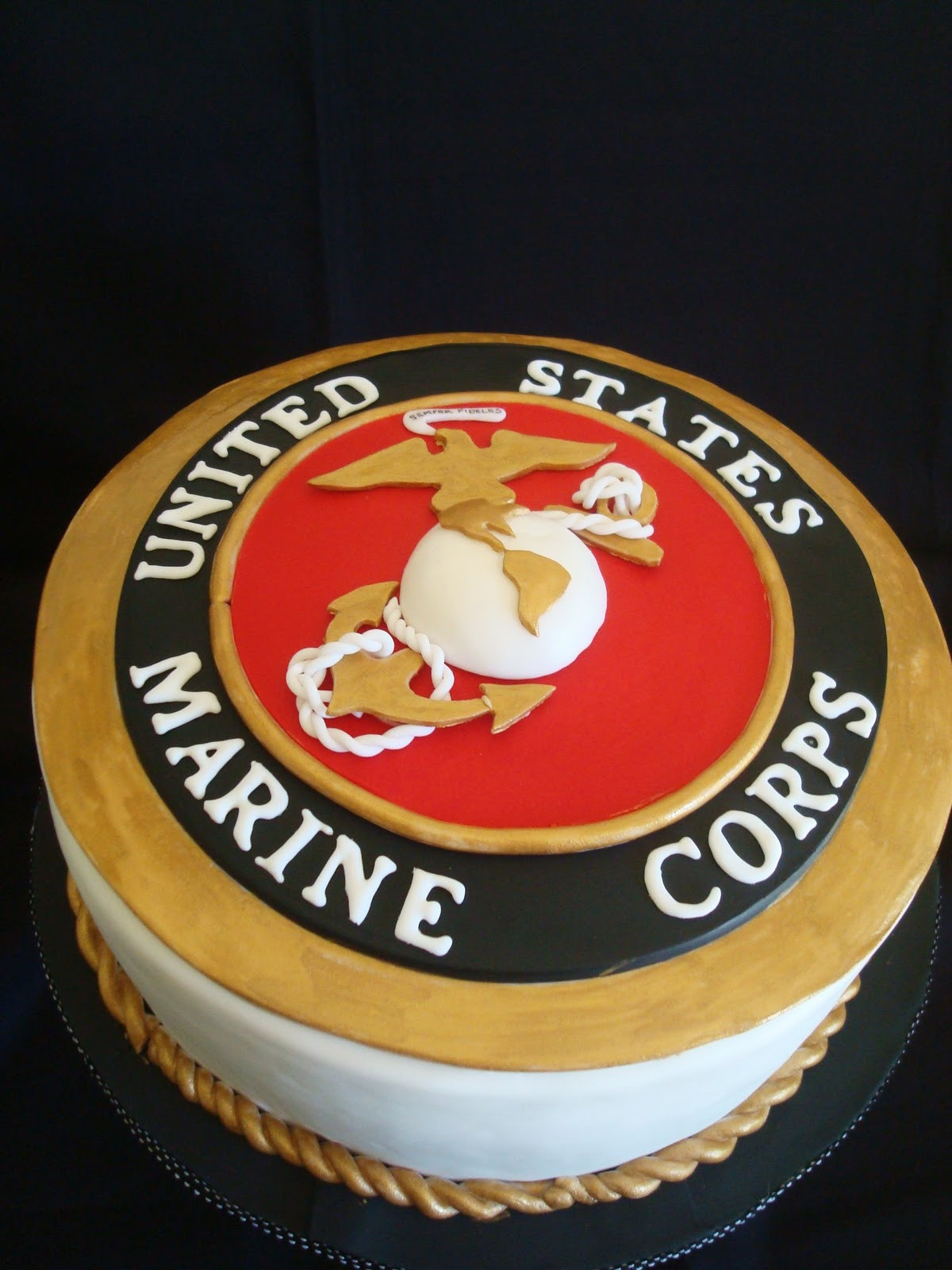 Best ideas about Marine Corp Birthday Cake . Save or Pin My Pink Little Cake Marine Corps Groom cake Now.