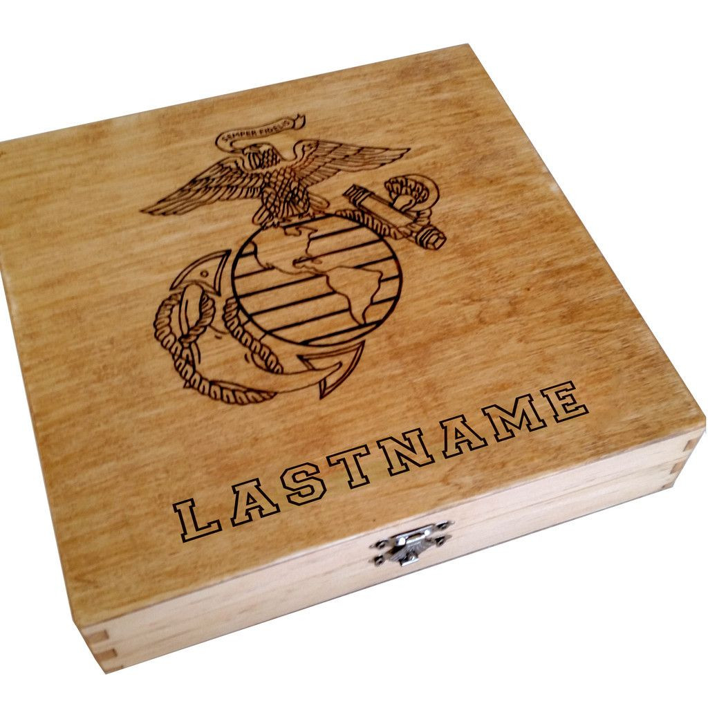 Best ideas about Marine Corps Gift Ideas . Save or Pin Personalized US Marine Corps USMC EGA Keepsake Box Now.