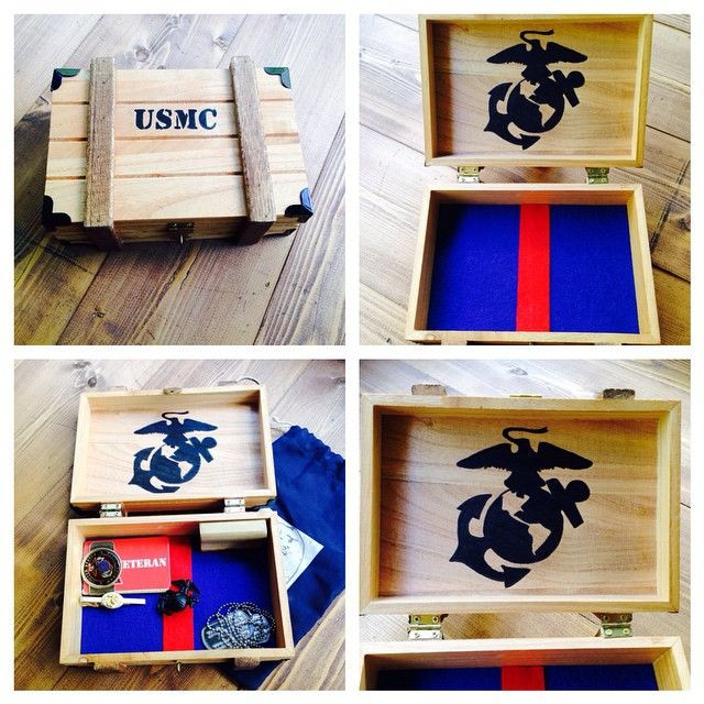 Best ideas about Marine Corps Gift Ideas . Save or Pin USMC Wooden Keepsake Box Marines Marinecorps ts Now.