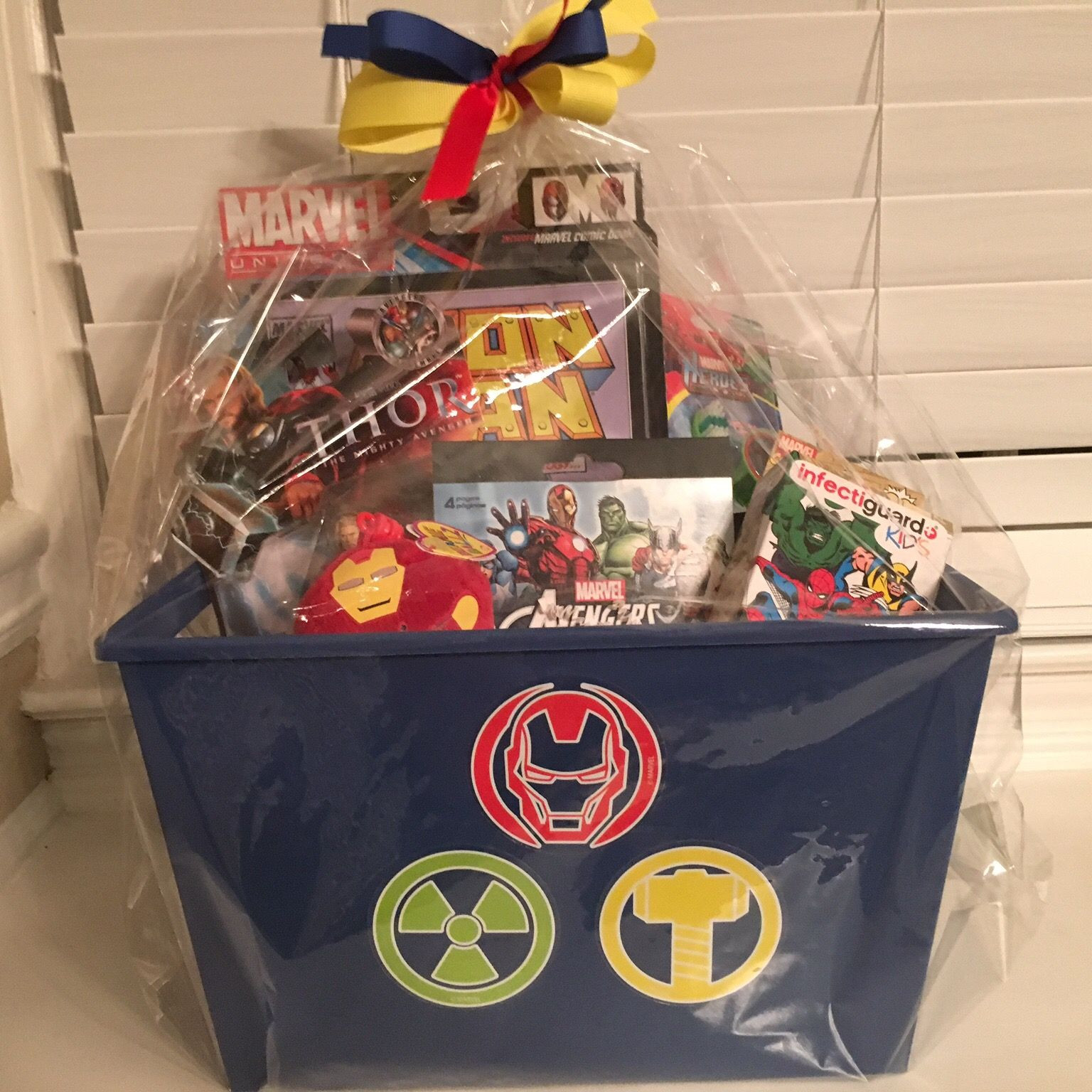 Best ideas about Marvel Gift Ideas . Save or Pin Marvel Avengers Gift Basket Gift Baskets Now.