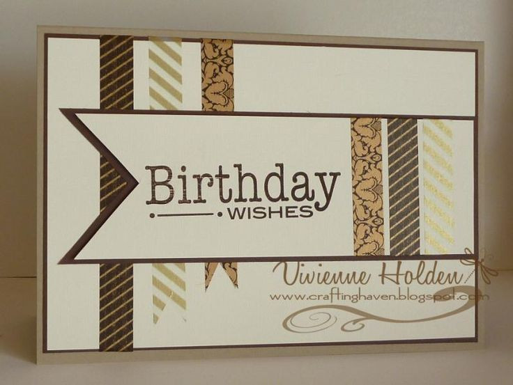 Best ideas about Masculine Birthday Wishes . Save or Pin 430 best images about Stamping Ideas Masculine cards on Now.