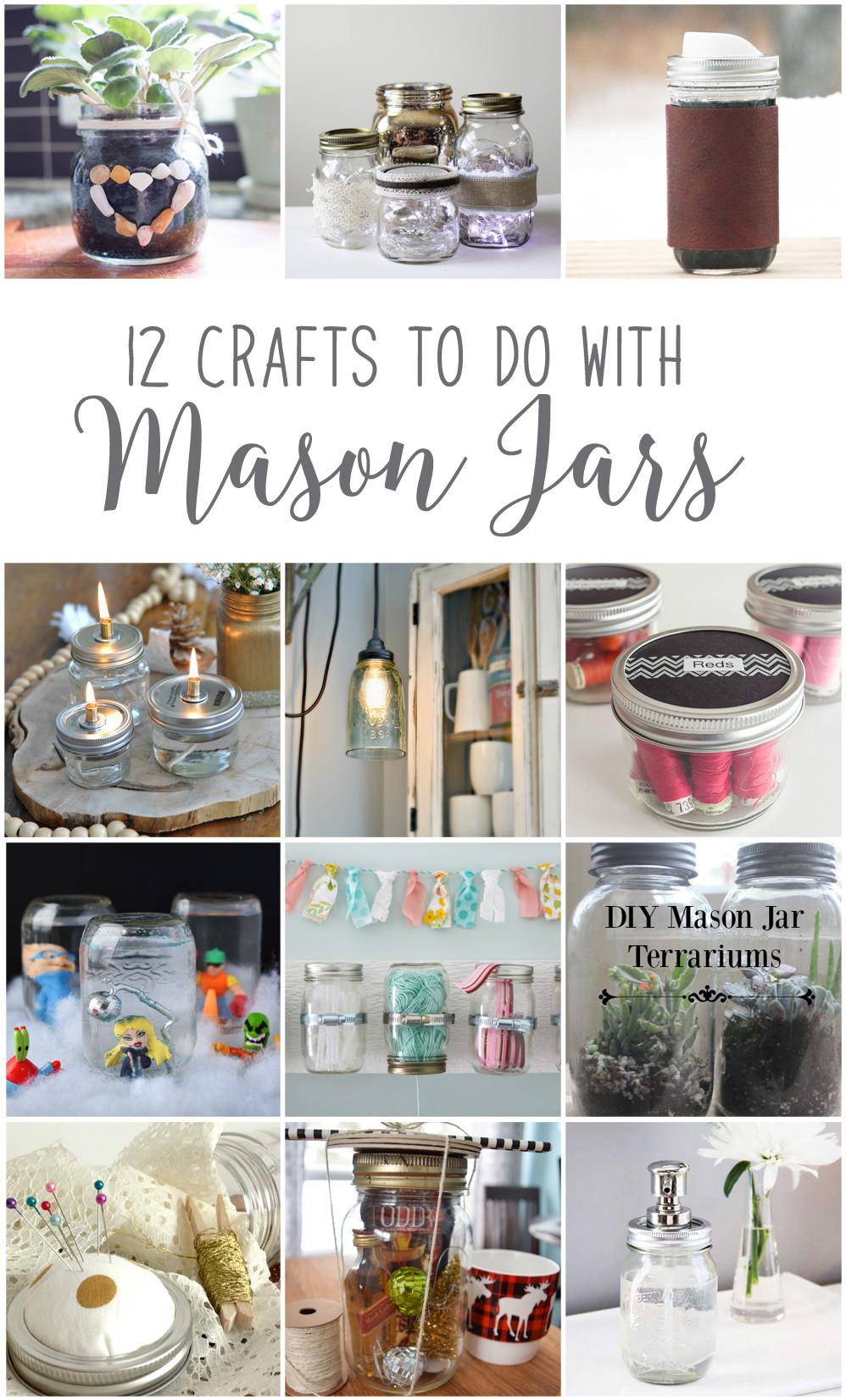 Best ideas about Mason Jar Craft Ideas . Save or Pin Make Hanging Mason Jar Craft Storage 12MonthsofDIY Now.