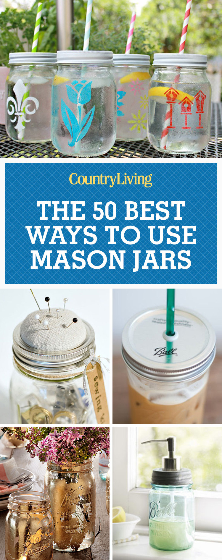 Best ideas about Mason Jar Craft Ideas . Save or Pin 50 Great Mason Jar Ideas Easy Uses for Mason Jars Now.