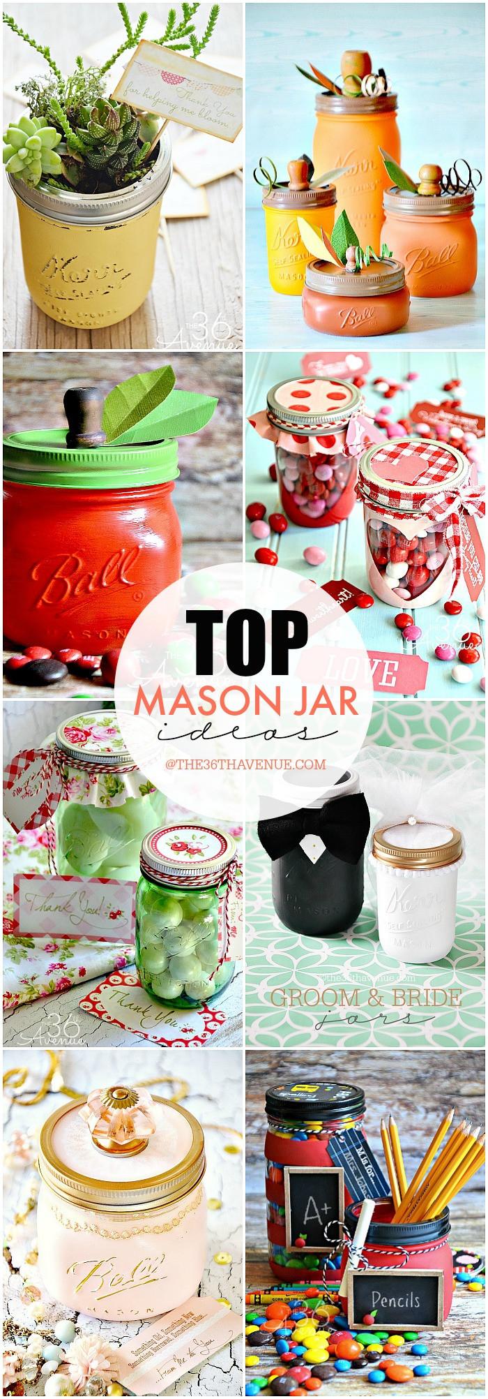 Best ideas about Mason Jar Craft Ideas . Save or Pin The 36th AVENUE Top Mason Jar Craft Ideas Now.
