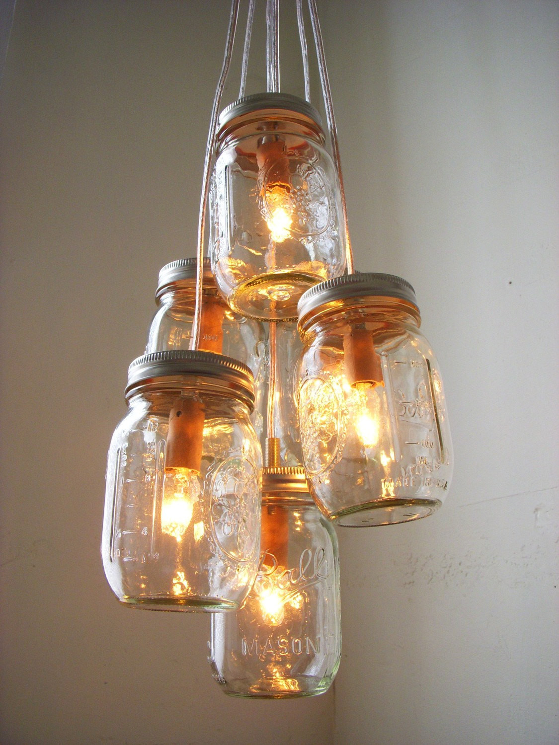 Best ideas about Mason Jar Light Fixtures DIY . Save or Pin Summer s Day Mason Jar Chandelier Lighting Fixture by Now.