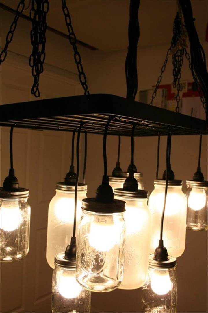Best ideas about Mason Jar Light Fixtures DIY . Save or Pin 35 Mason Jar Lights Do It Yourself Ideas Now.