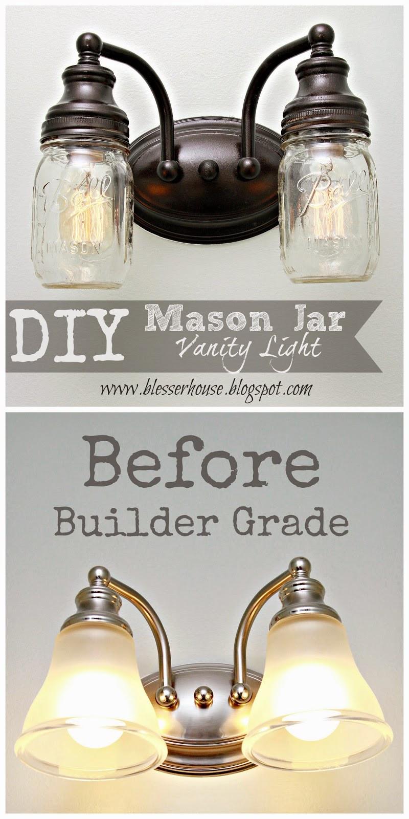 Best ideas about Mason Jar Lights DIY . Save or Pin DIY Mason Jar Vanity Light Bless er House Now.