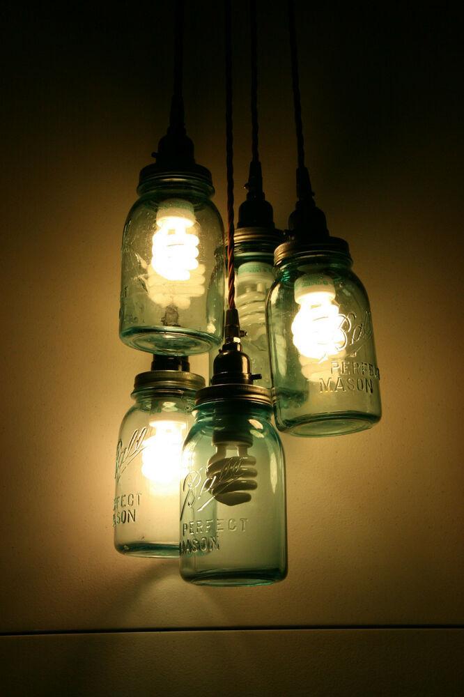 Best ideas about Mason Jar Lights DIY . Save or Pin DIY Vintage Mason Jar Chandelier Light Hanging Pendant Now.