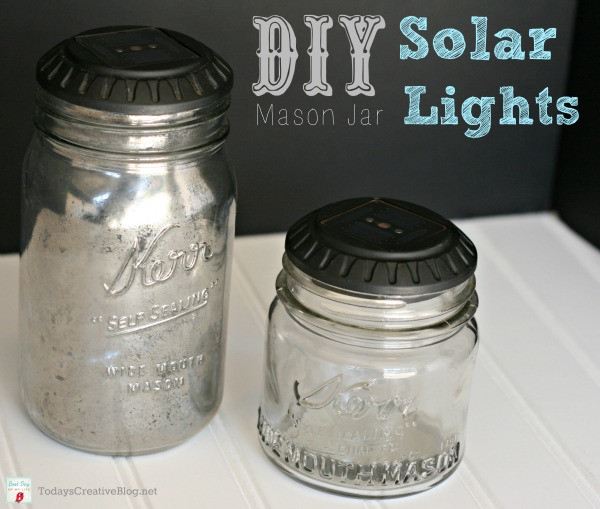 Best ideas about Mason Jars Solar Lights DIY . Save or Pin DIY Mason Jar Solar Lights Today s Creative Life Now.