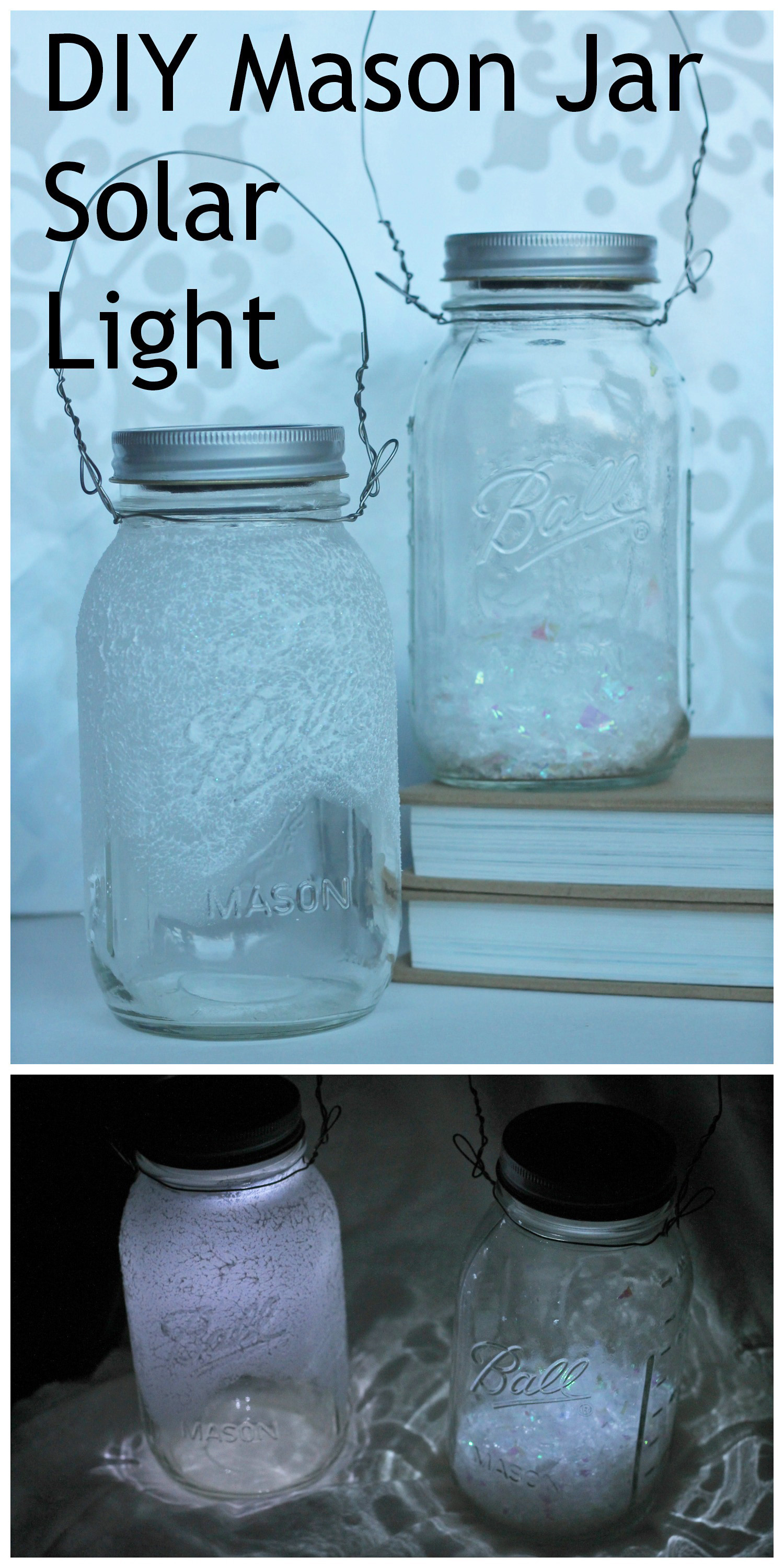Best ideas about Mason Jars Solar Lights DIY . Save or Pin Mason Jar Solar Lights Tutorial Great For Winter Home Decor Now.