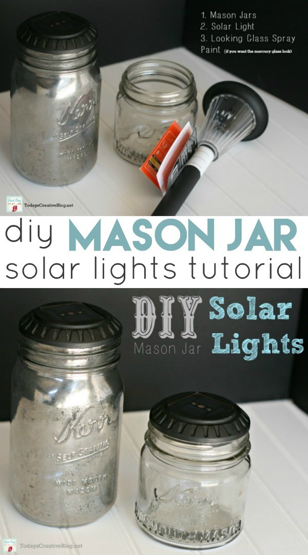 Best ideas about Mason Jars Solar Lights DIY . Save or Pin DIY Mason Jar Solar Lights Now.