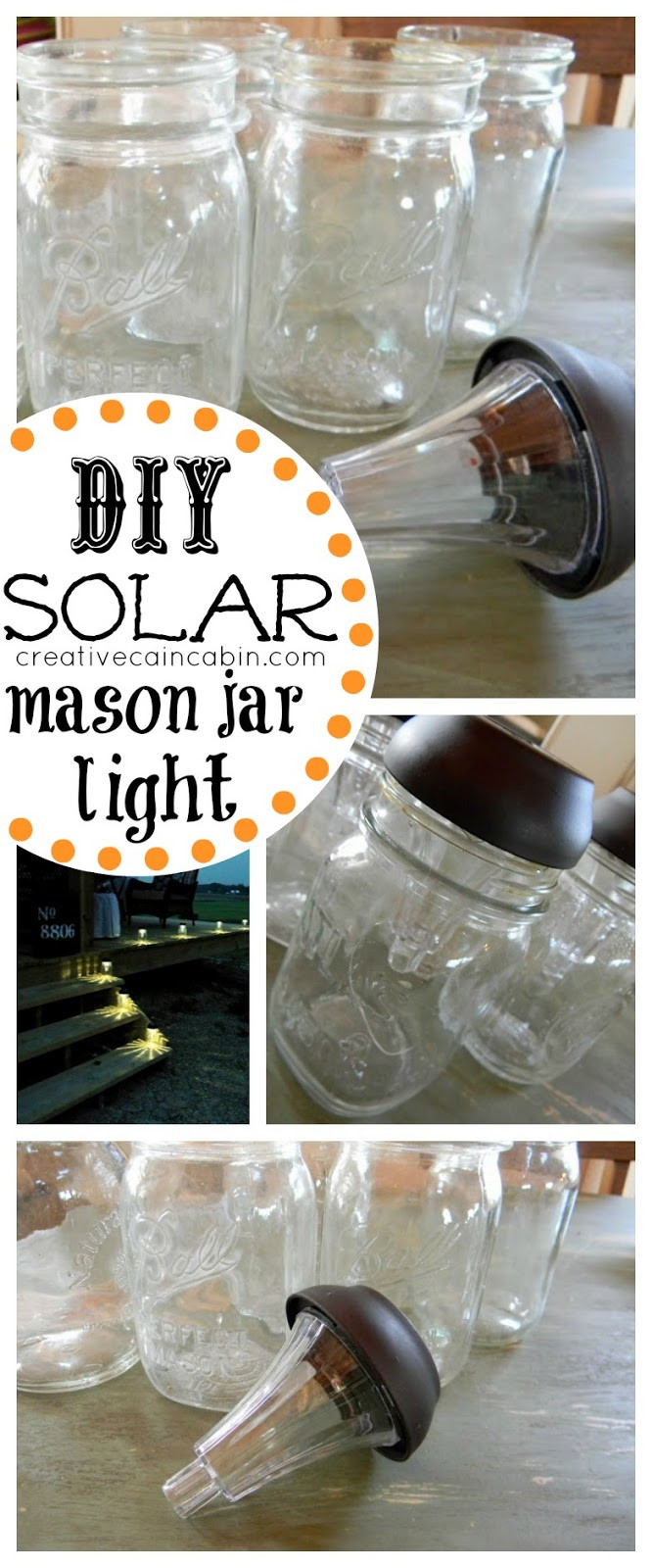 Best ideas about Mason Jars Solar Lights DIY . Save or Pin DIY Mason Jar Solar Lamps DIY for Life Now.
