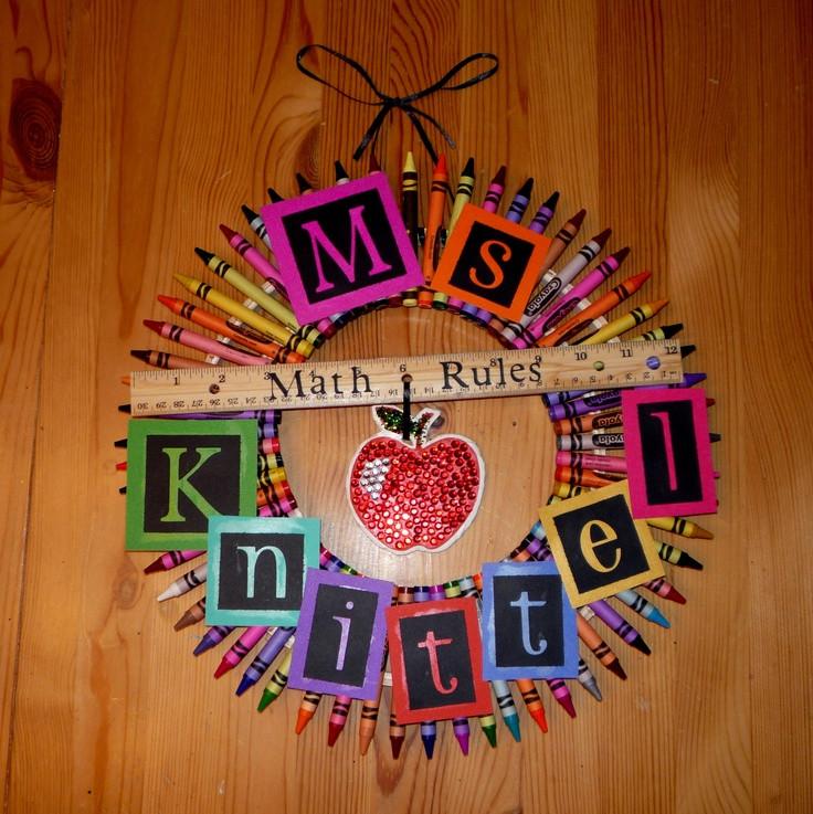 Best ideas about Math Teacher Gift Ideas . Save or Pin Math Teacher Wreath Gift Ideas Now.