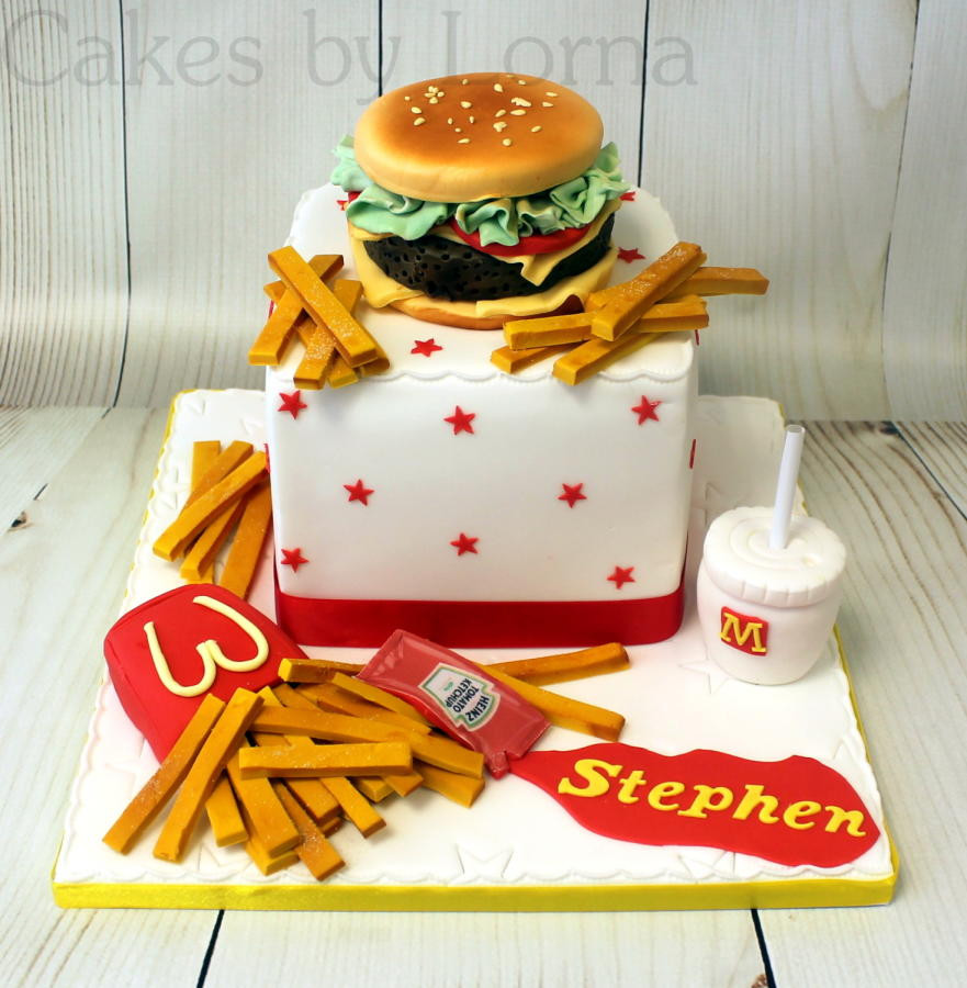 """Best ideas about Mcdonalds Birthday Cake . Save or Pin McDonald s """"Big Tasty"""" Burger Birthday Cake cake by Now."""