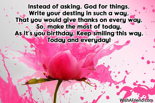 Best ideas about Meaningful Birthday Wish . Save or Pin Inspirational Birthday Messages Page 3 Now.