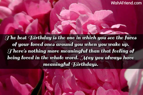 Best ideas about Meaningful Birthday Wishes . Save or Pin Inspirational Birthday Messages Now.