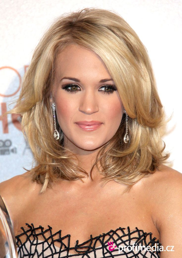Best ideas about Medium Length Hairstyle Pinterest . Save or Pin Carrie Underwood shoulder length HAIR STYLES Now.