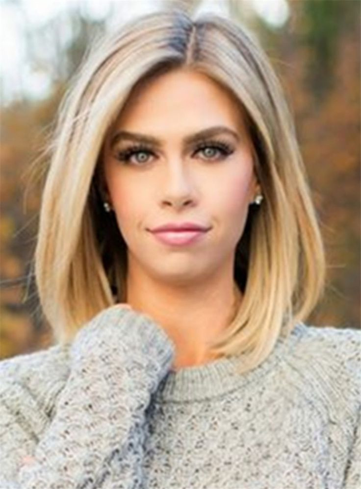 Best ideas about Medium Length Hairstyles Straight . Save or Pin Mid length Straight Blonde Full Lace Human Hair Wig 12 Now.
