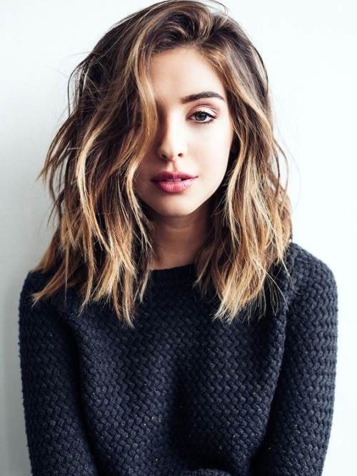 Best ideas about Medium Length Hairstyles Tumblr . Save or Pin shoulder length haircut Now.