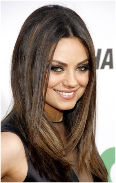 Best ideas about Medium Straight Haircuts . Save or Pin Medium Straight Hairstyles Trends Mila Kunis Hair Now.