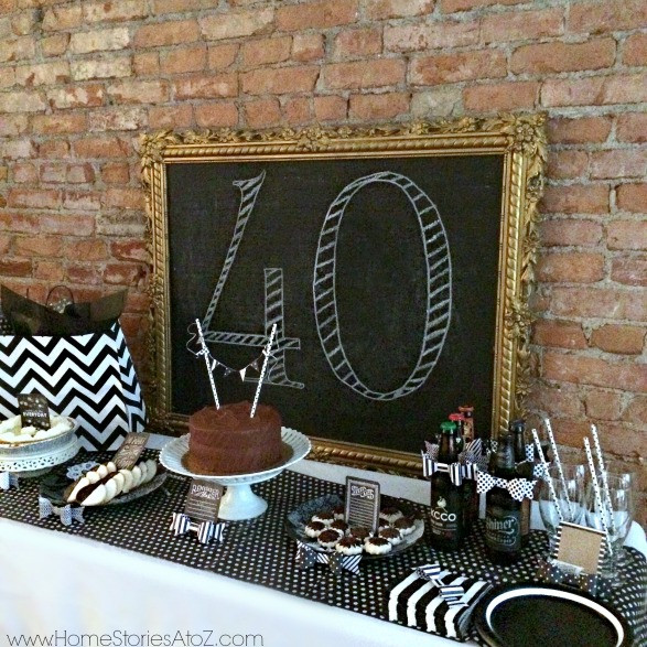 Best ideas about Mens Birthday Decorations . Save or Pin 40th Birthday Party Idea for a Man Home Stories A to Z Now.