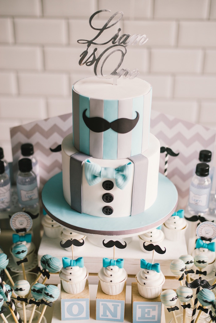Best ideas about Mens Birthday Decorations . Save or Pin Kara s Party Ideas Modern Little Man Birthday Party Now.