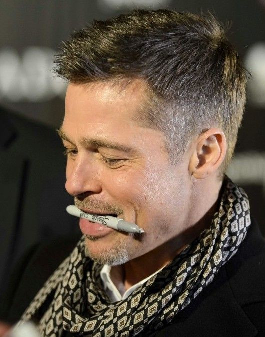 Best ideas about Mens Hairstyles Summer 2019 . Save or Pin Brad Pitt I love how he holds the pen Signing Now.