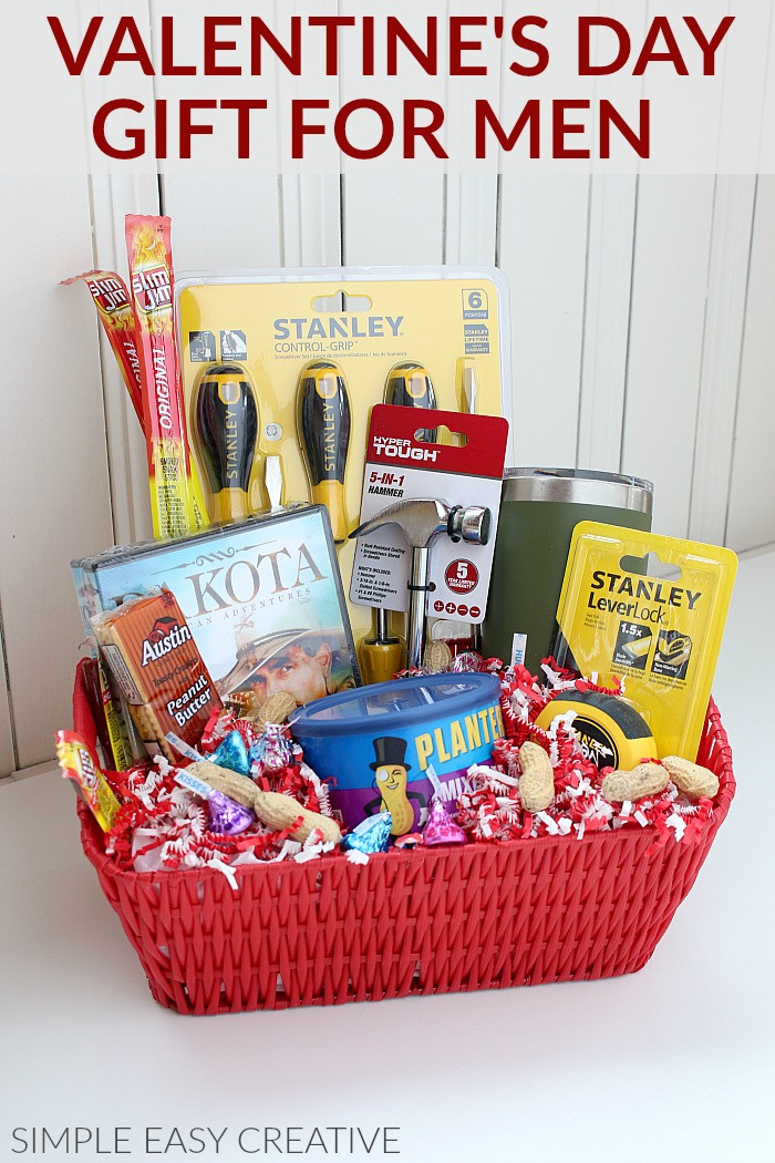 Best ideas about Mens Valentine Gift Ideas . Save or Pin Gift Basket for Men Hoosier Homemade Now.