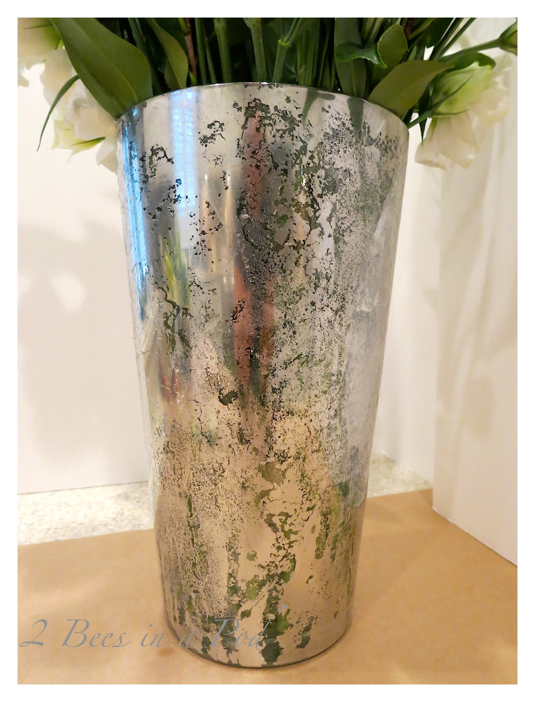 Best ideas about Mercury Glass DIY . Save or Pin DIY Mercury Glass Vases 2 Bees in a Pod Now.