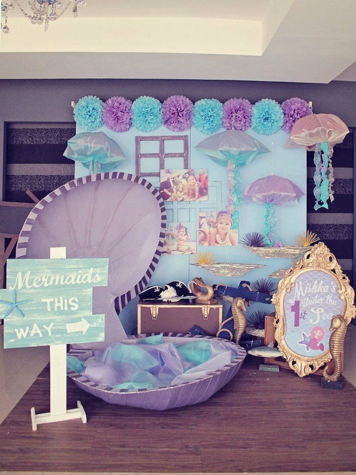 Best ideas about Mermaid Birthday Party Decorations . Save or Pin 21 Marvelous Mermaid Party Ideas for Kids Now.