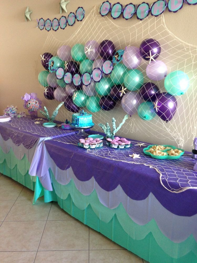 Best ideas about Mermaid Birthday Party Decorations . Save or Pin Pin by Jane Dominguez on Mia bday Now.
