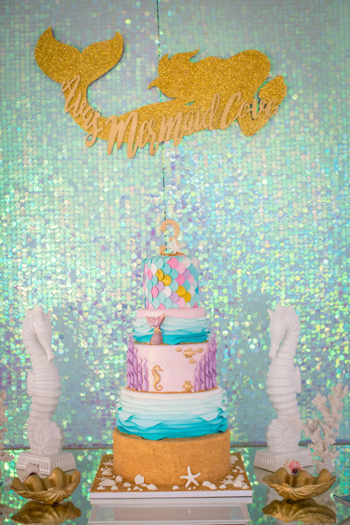 Best ideas about Mermaid Birthday Party Decorations . Save or Pin Kara s Party Ideas Mermaid Cove Birthday Party Now.