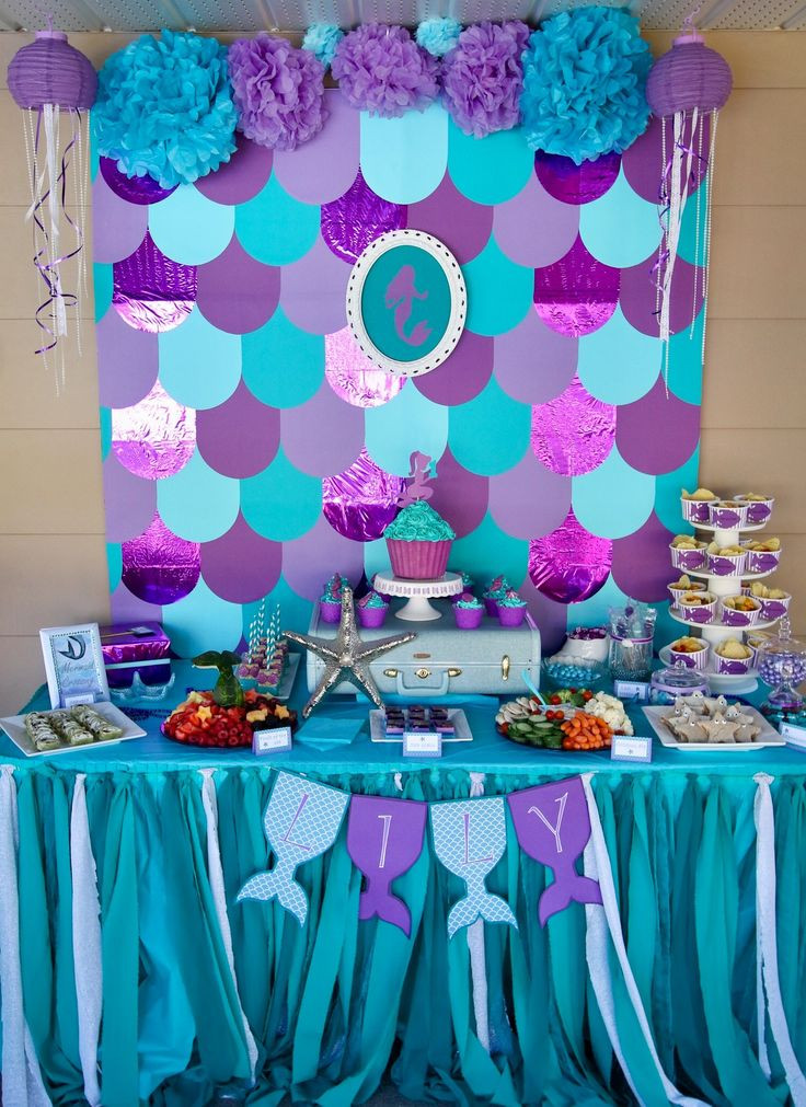 Best ideas about Mermaid Birthday Party Decorations . Save or Pin Best 20 Ariel party food ideas on Pinterest Now.