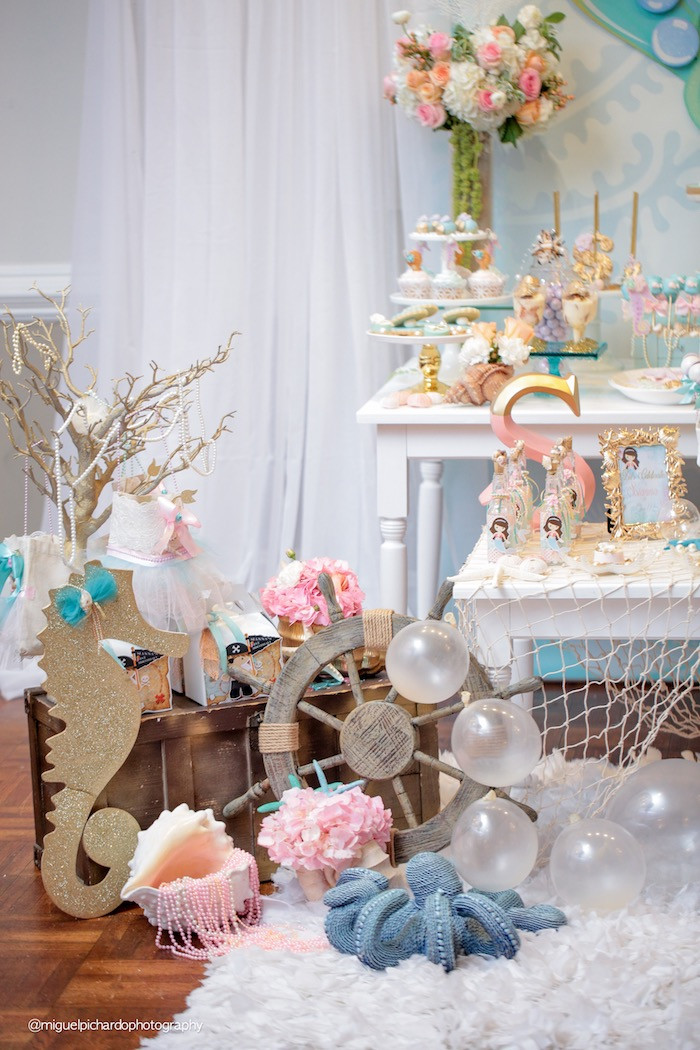 Best ideas about Mermaid Birthday Party Decorations . Save or Pin Kara s Party Ideas Pastel Mermaid Birthday Party Now.