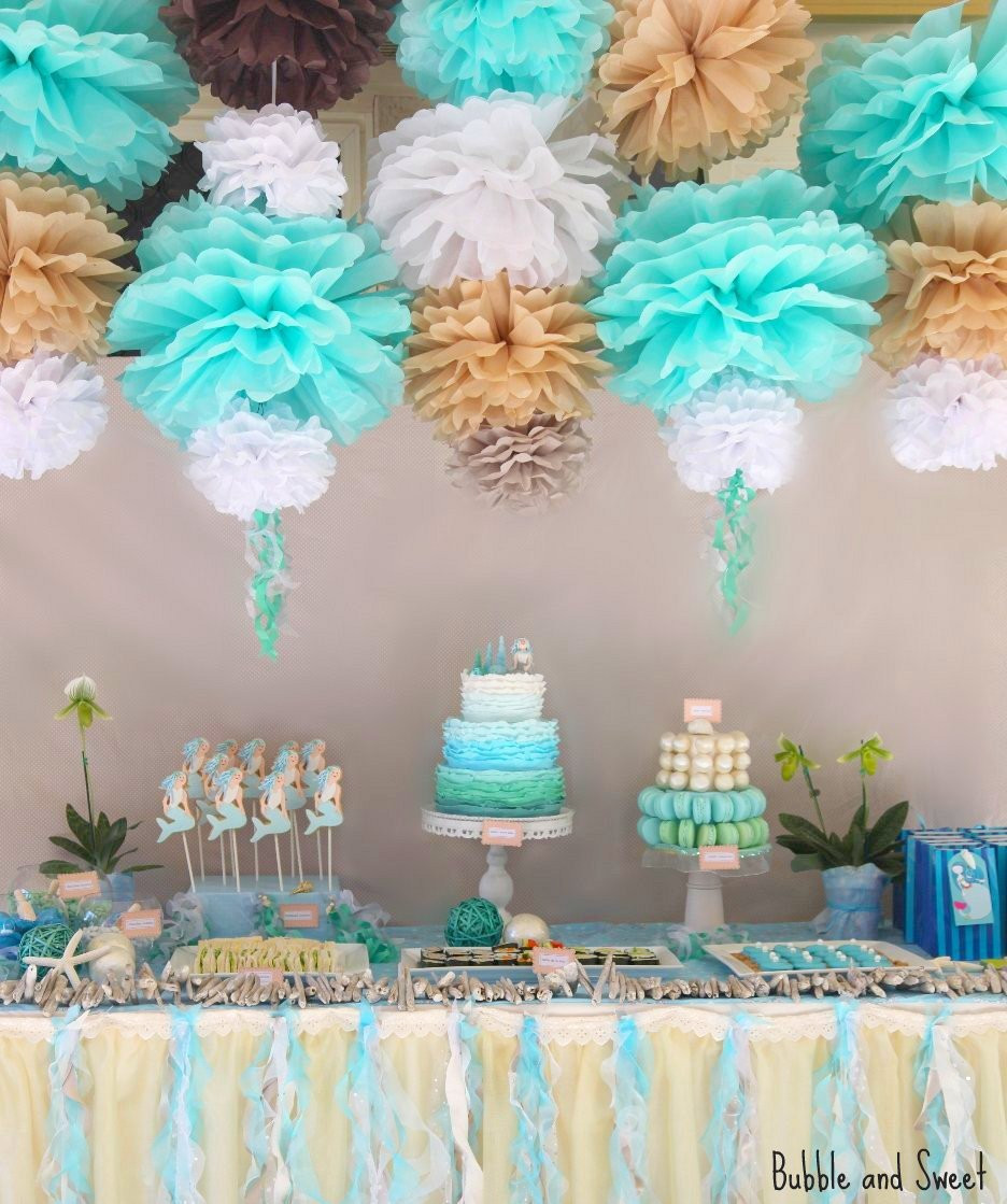Best ideas about Mermaid Birthday Party Decorations . Save or Pin Bubble and Sweet Lilli s 7th Birthday Party Mermaid Party Now.