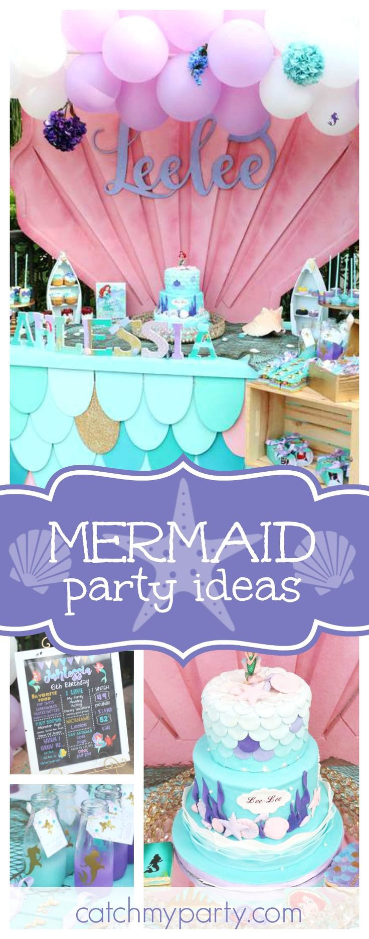 Best ideas about Mermaid Birthday Party Decorations . Save or Pin 3841 best images about Mermaid Party on Pinterest Now.