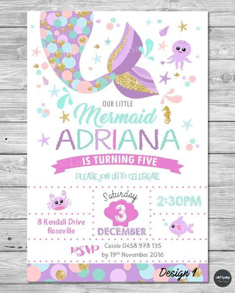Best ideas about Mermaid First Birthday Invitations . Save or Pin 23 Free Printable Birthday Invitations Downloadable Now.