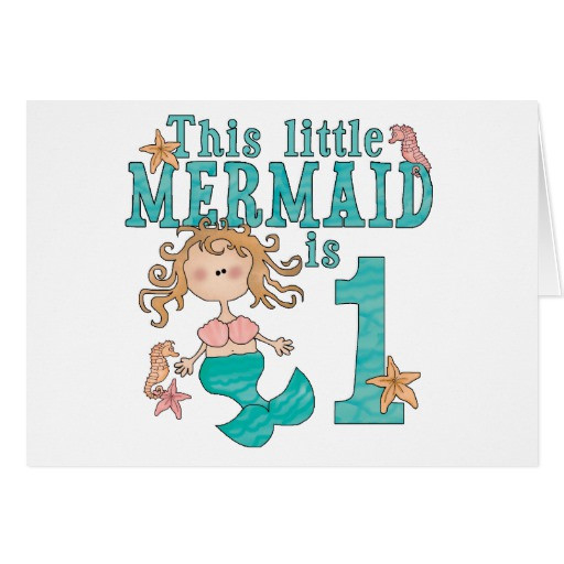 Best ideas about Mermaid First Birthday Invitations . Save or Pin Mermaid First Birthday Invitations Card Now.