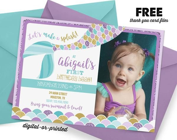 Best ideas about Mermaid First Birthday Invitations . Save or Pin Best 25 Mermaid invitations ideas on Pinterest Now.