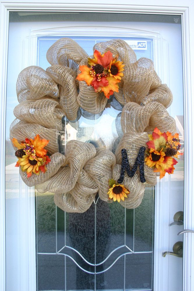Best ideas about Mesh Wreaths DIY . Save or Pin 12 Easy DIY Deco Mesh Wreaths For Fall Shelterness Now.