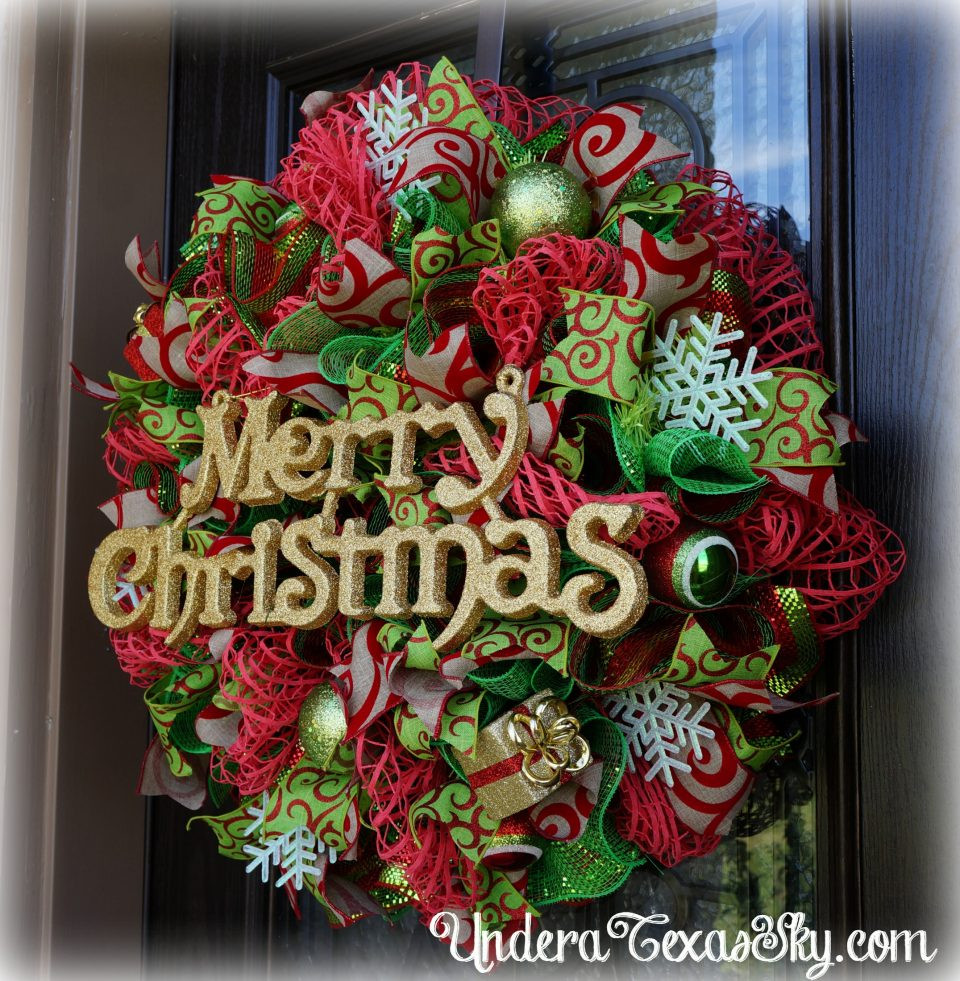 Best ideas about Mesh Wreaths DIY . Save or Pin Christmas Deco Mesh Wreath Instructional Tutorial Under Now.
