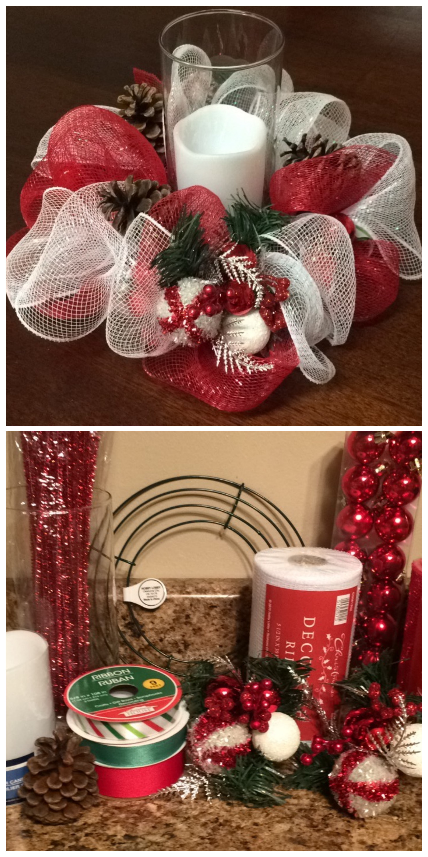 Best ideas about Mesh Wreaths DIY . Save or Pin [DIY Deco Mesh Christmas Centerpiece] Learn how to make Now.