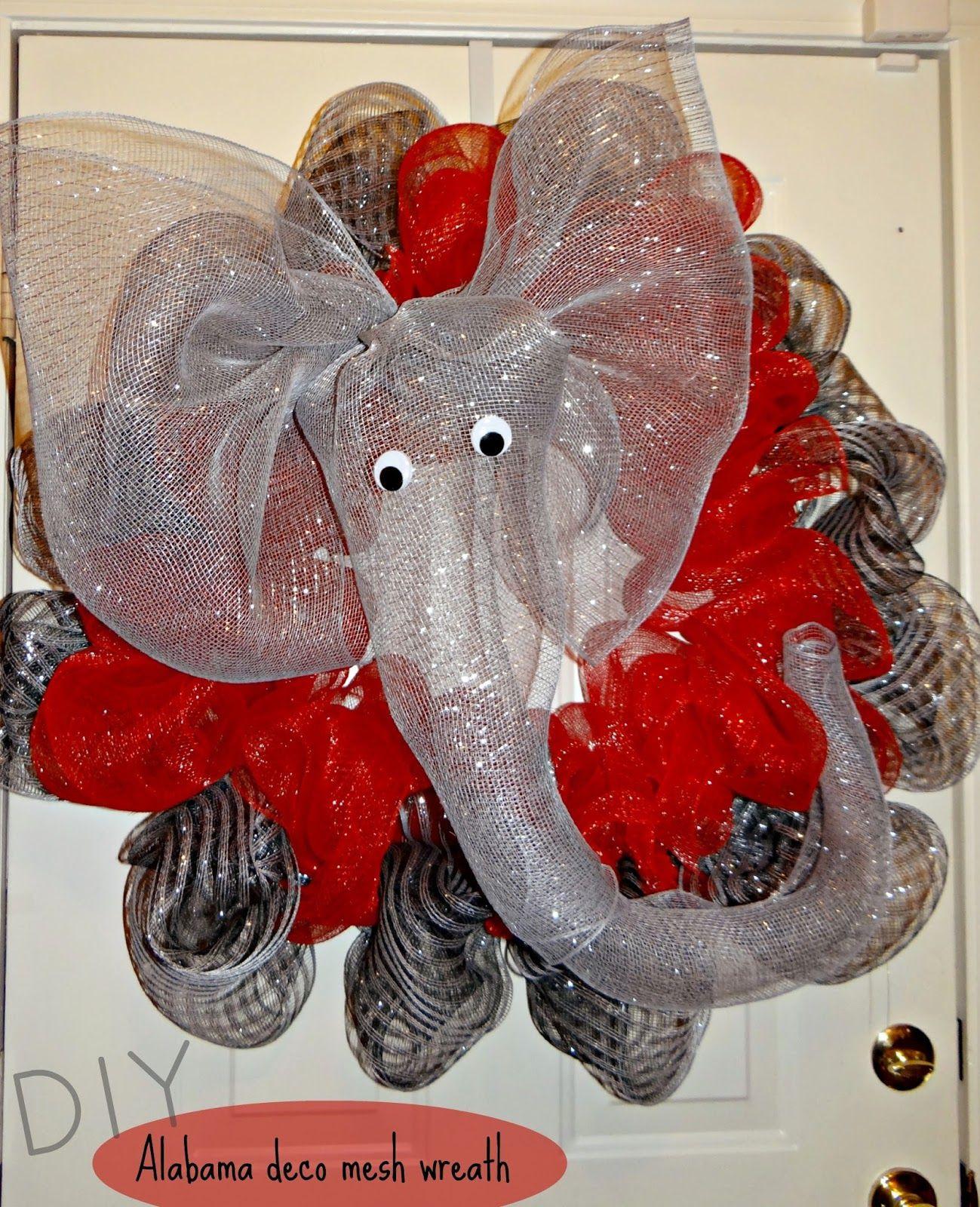 Best ideas about Mesh Wreaths DIY . Save or Pin DIY Alabama deco mesh wreath Kelseycrumpton Now.