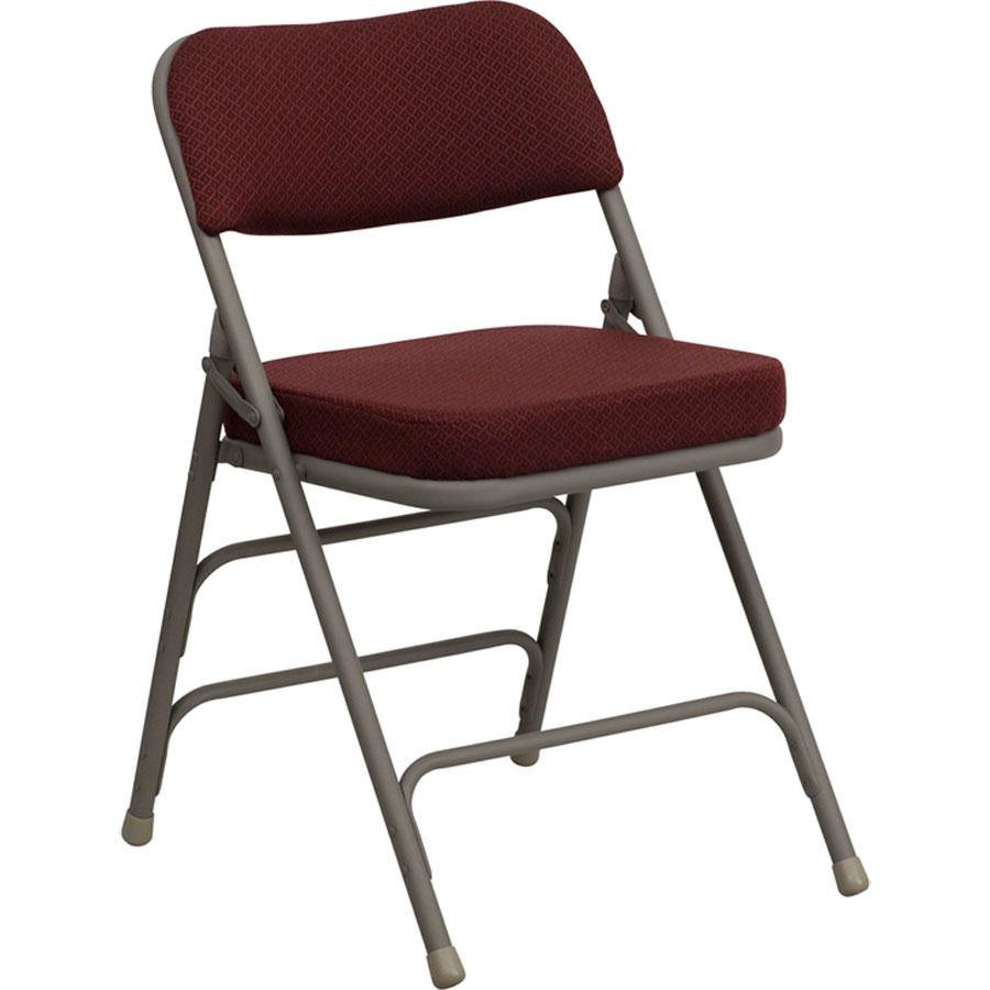 "Best ideas about Metal Folding Chair . Save or Pin Burgundy Metal Folding Chair with 2 1 2"" Padded Fabric Seat Now."
