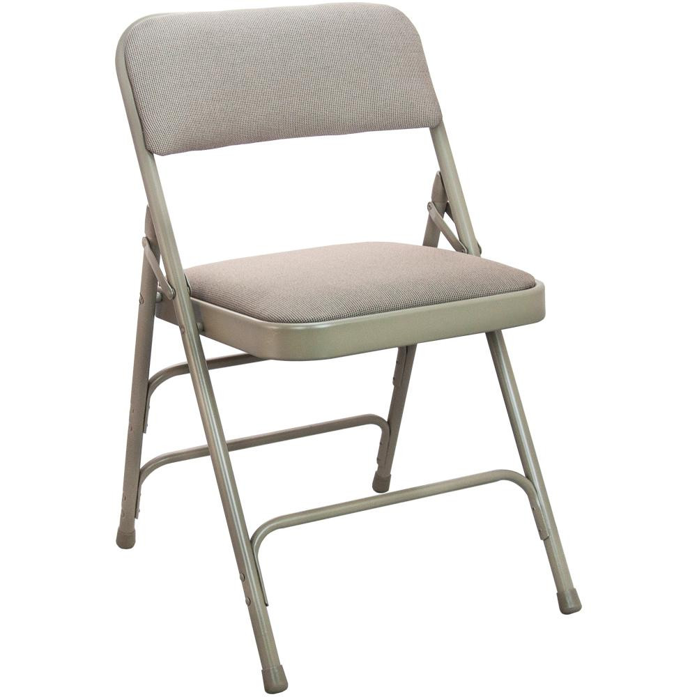 Best ideas about Metal Folding Chair . Save or Pin Advantage 1 in Beige Fabric Seat Padded Metal Folding Now.