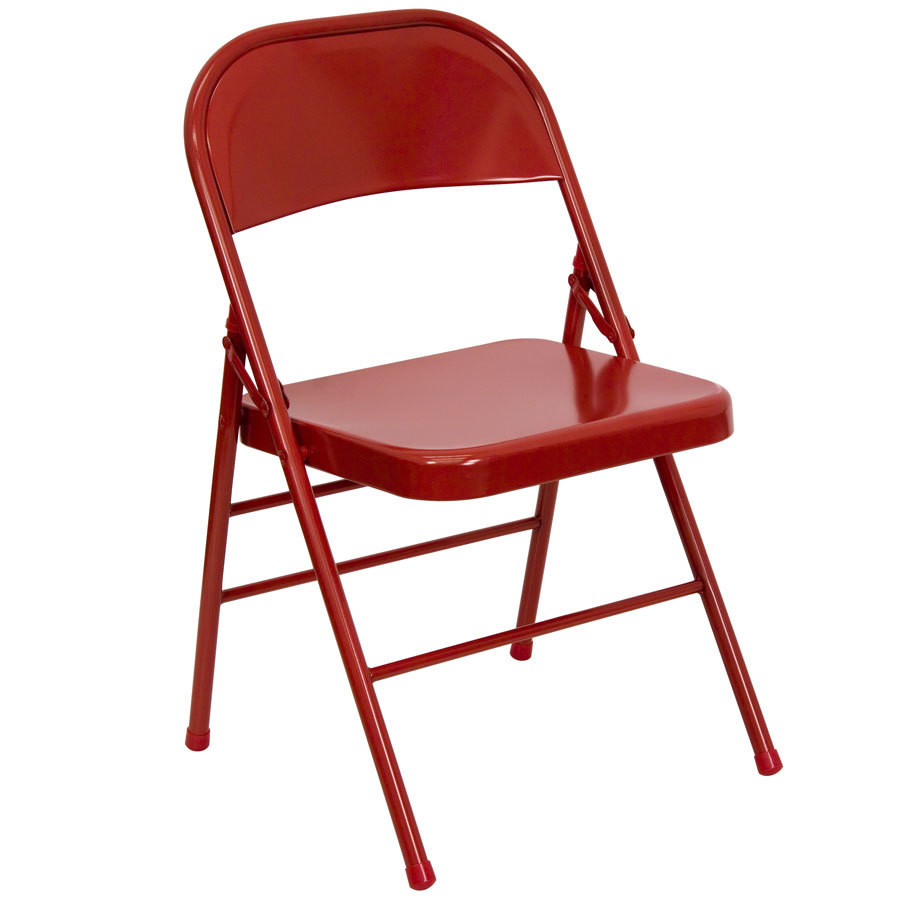Best ideas about Metal Folding Chair . Save or Pin Red Metal Folding Chair Now.