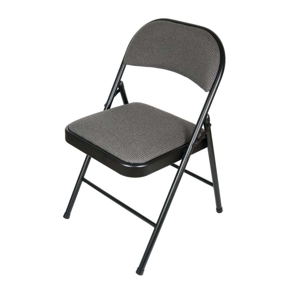 Best ideas about Metal Folding Chair . Save or Pin APEX GARDEN Deluxe Fabric Black Grey Padded Metal Folding Now.